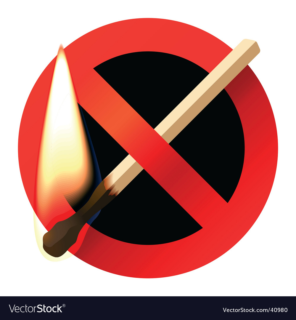 No open fire sign Vector Image