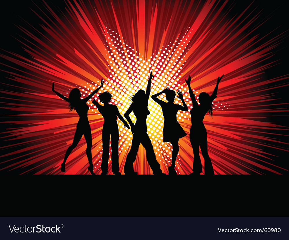 Sexy female dancers vector image