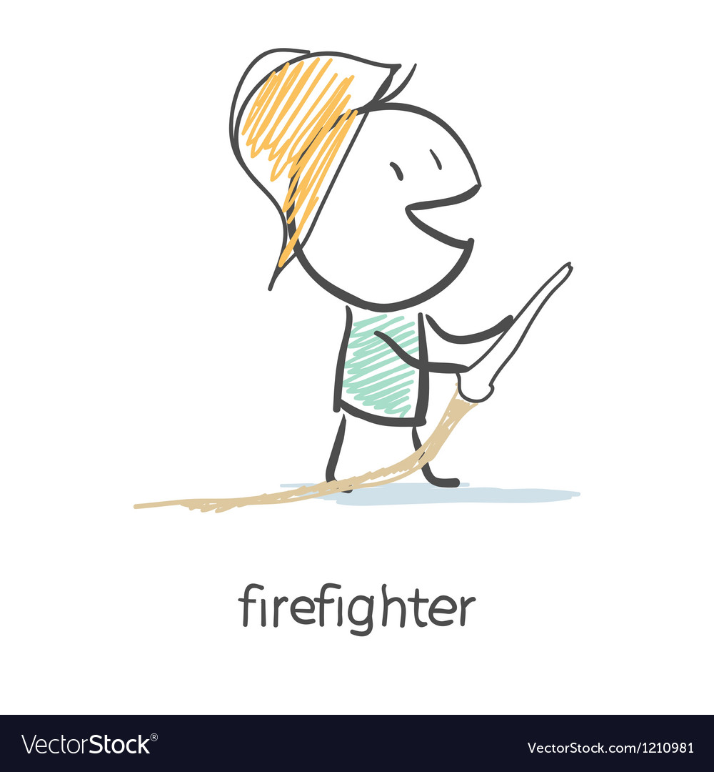 Firefighter vector image