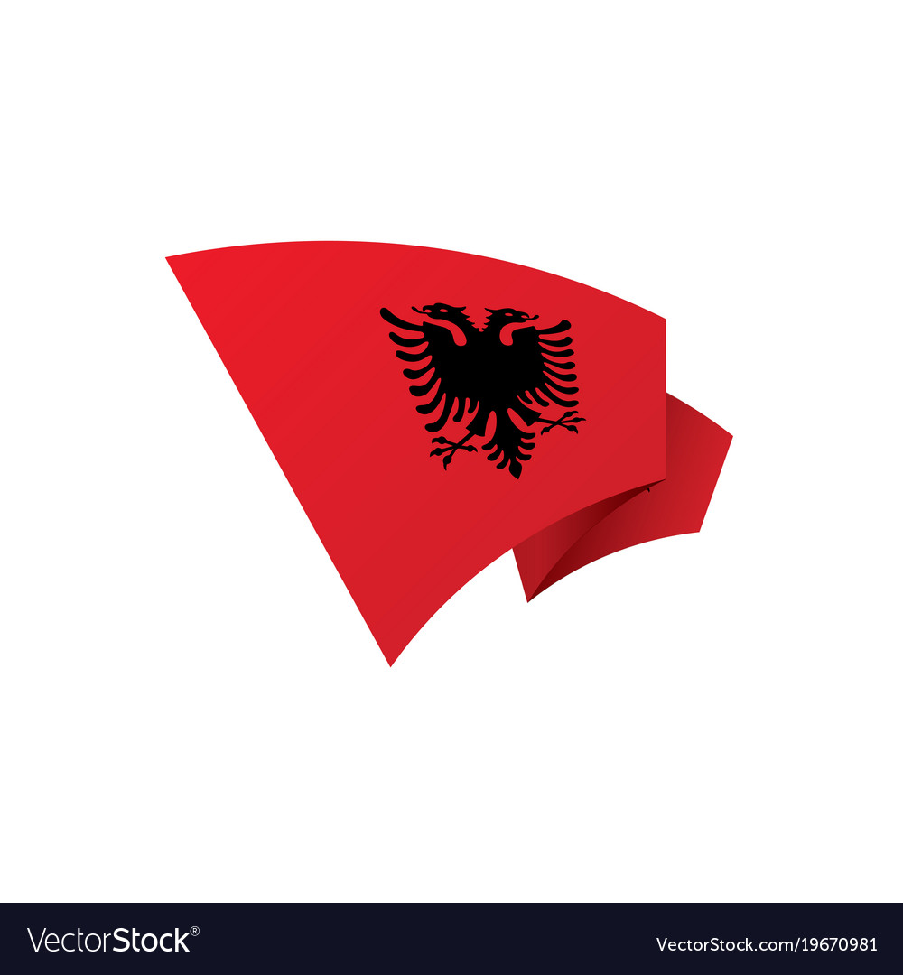 Albania Flag Royalty Free Vector Image VectorStock - Albania flag