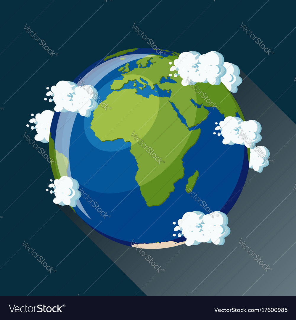 Africa map on planet earth view from space vector image gumiabroncs Choice Image