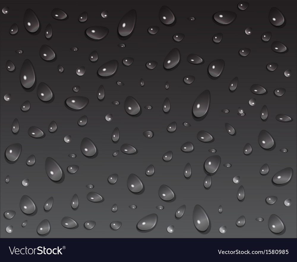 Drops on a dark background vector image