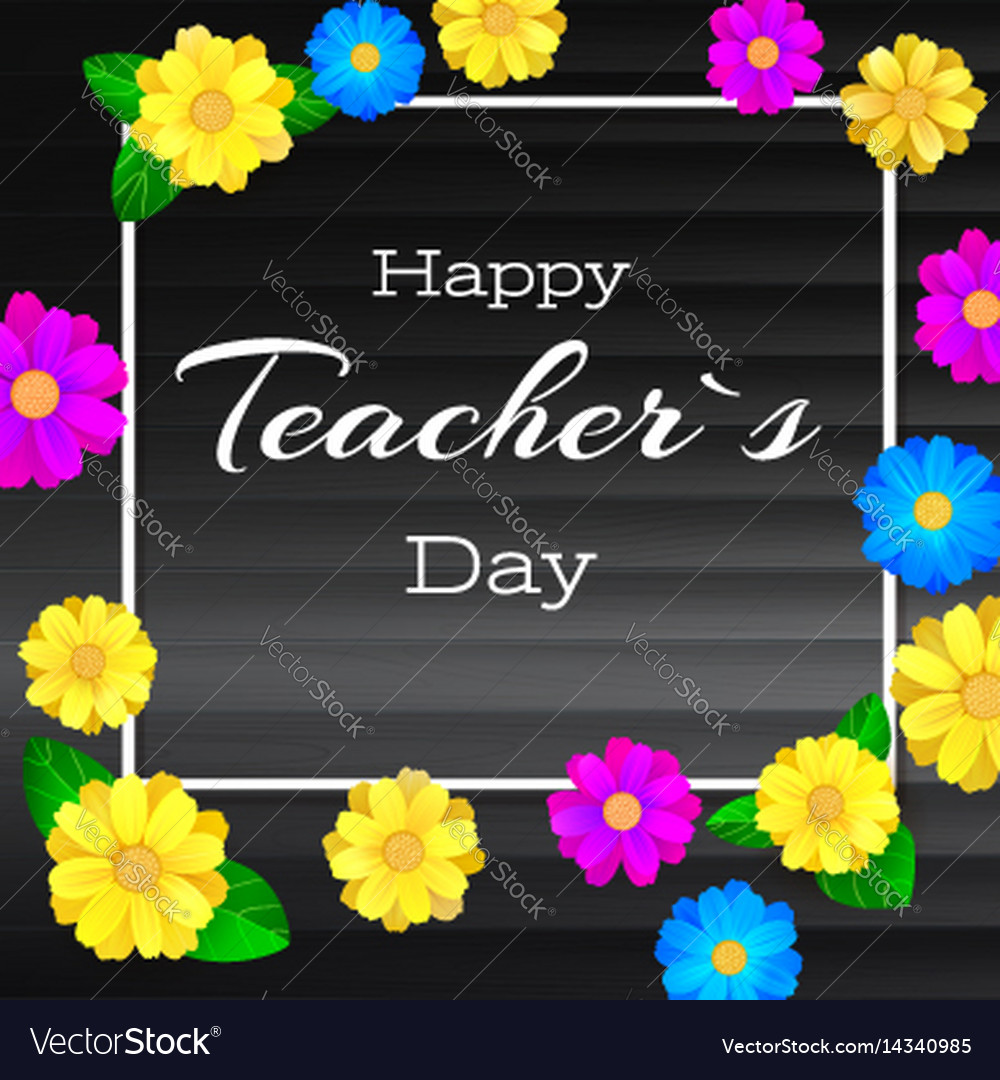 Happy teacher day greeting banner for your vector image kristyandbryce Choice Image