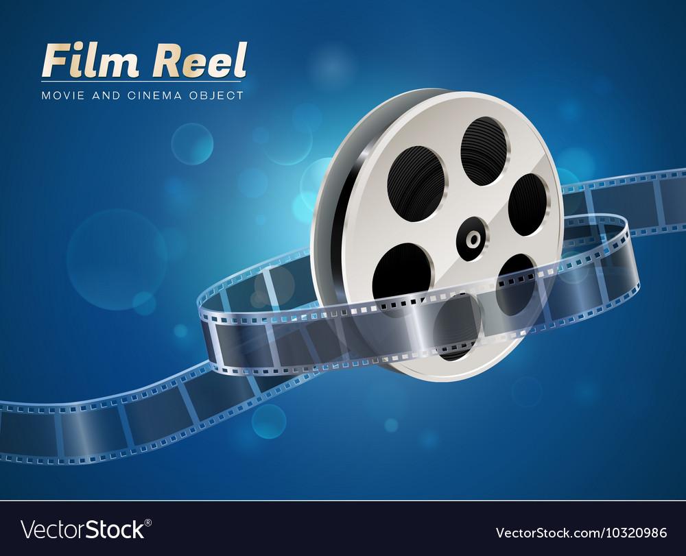 Film reel movie cinema object vector image