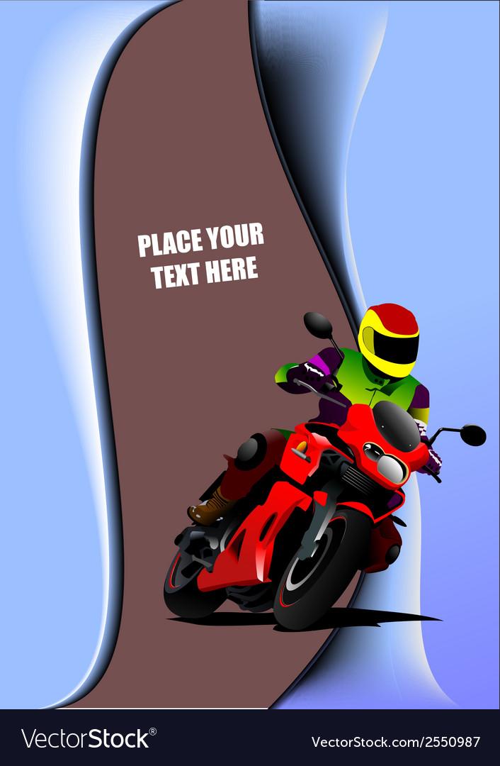 Al 0817 motorcycle 02 vector image