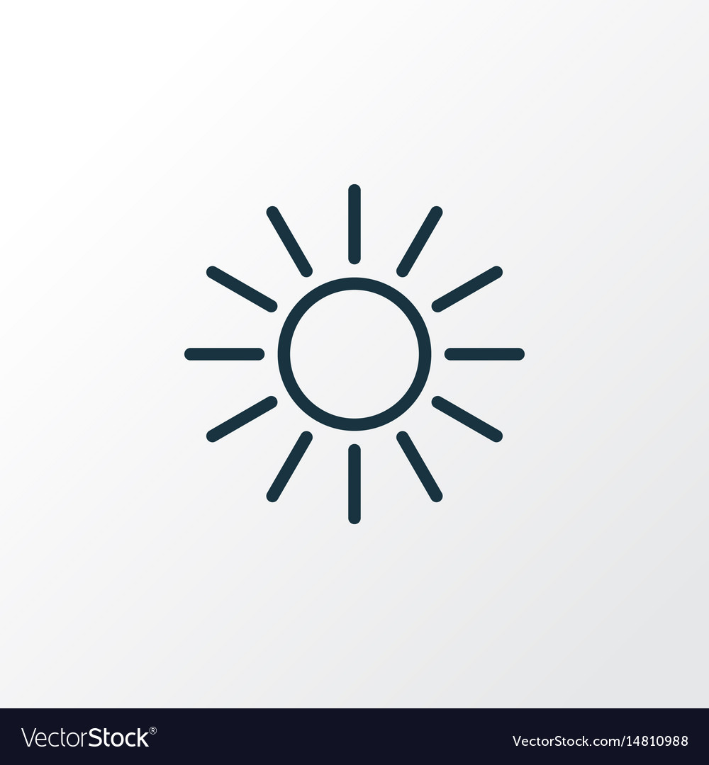 Sunshine outline symbol premium quality isolated vector image