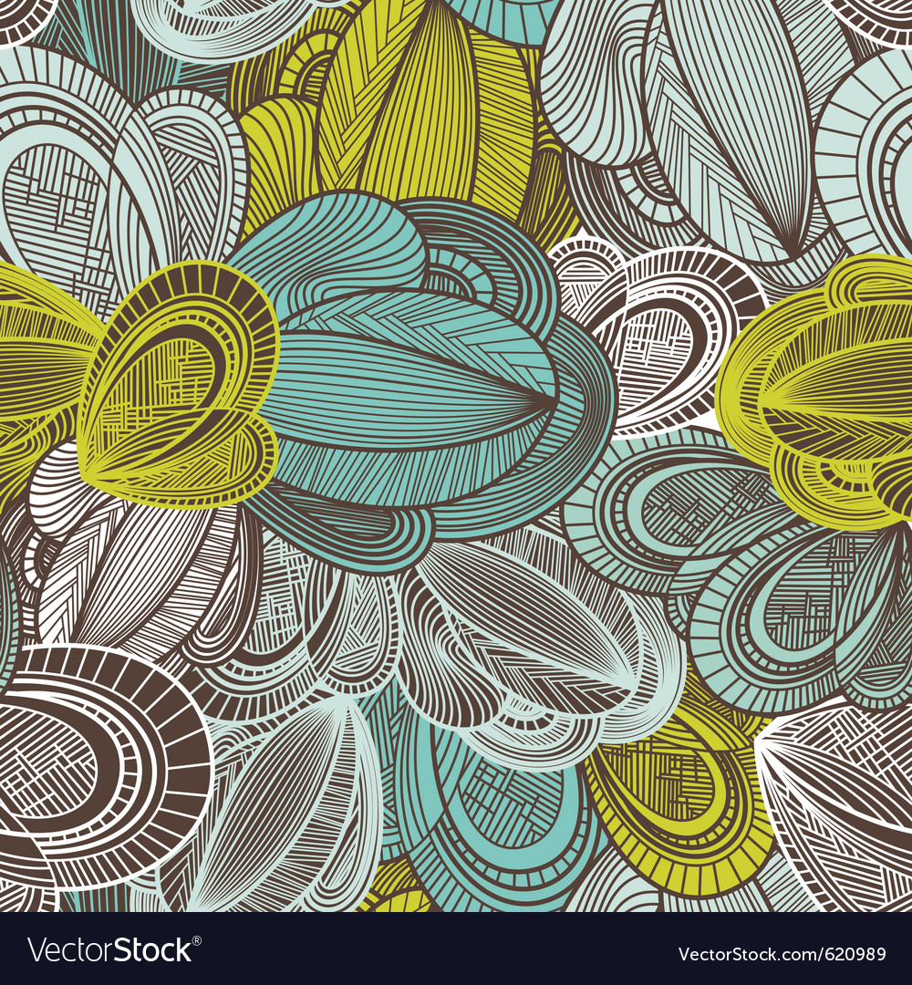 Geometric decorative seamless vector image