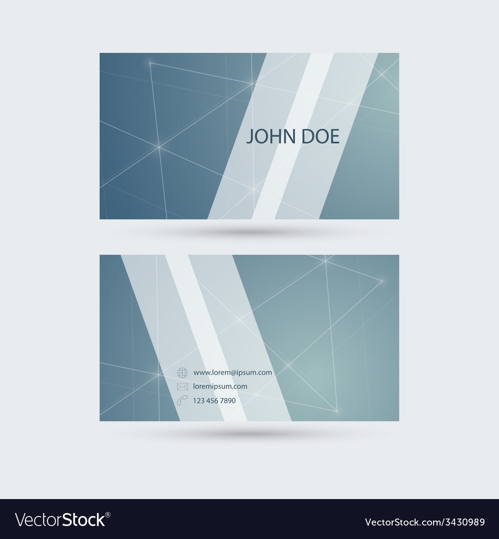 Modern business card template with sparkling lines modern business card template with sparkling lines vector image colourmoves