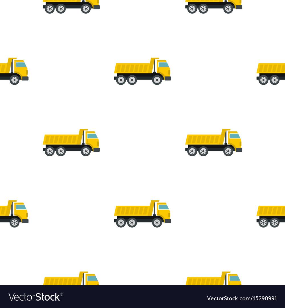 Dumper truck pattern flat vector image