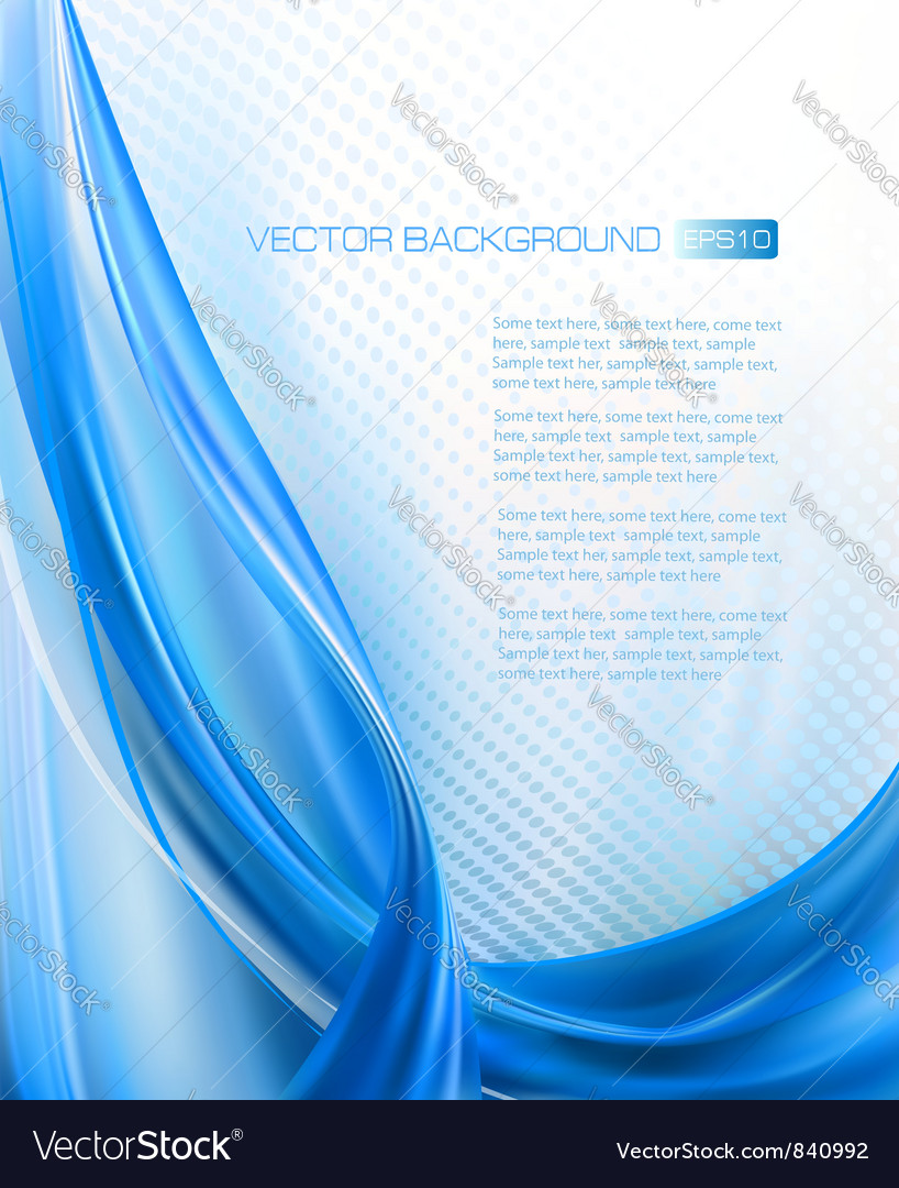 Abstract blue elegant background with neon design vector image