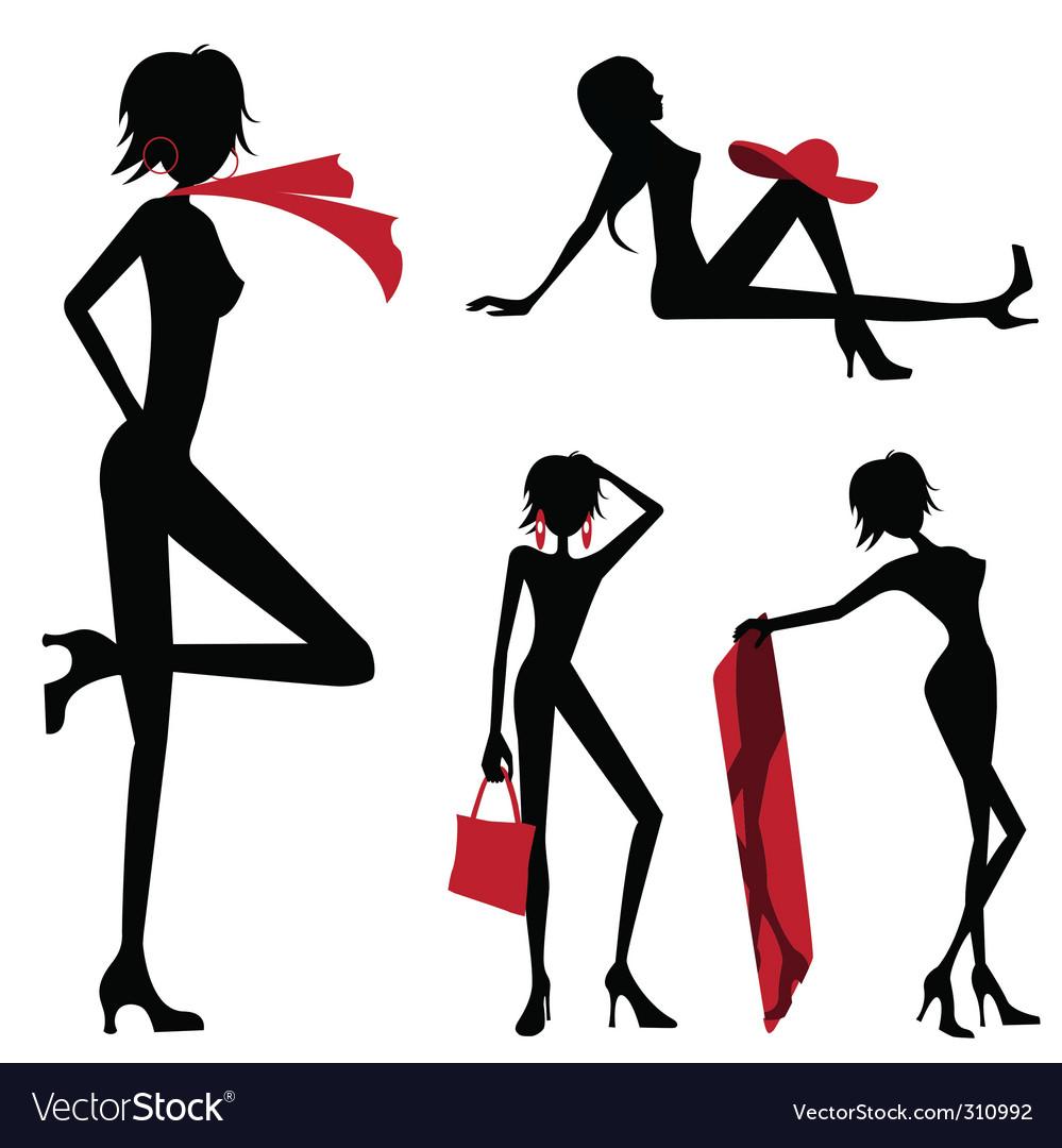 Beauty women vector image