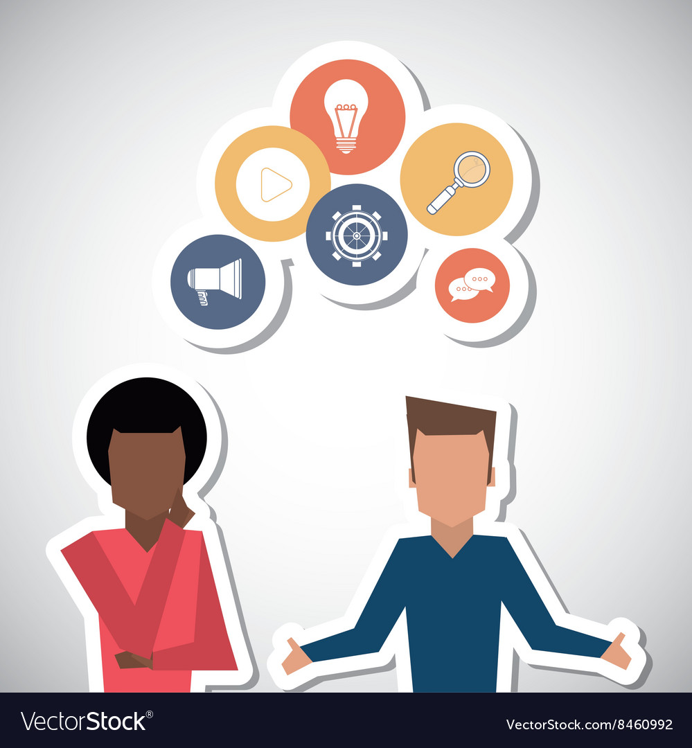Communication and people graphic design vector image