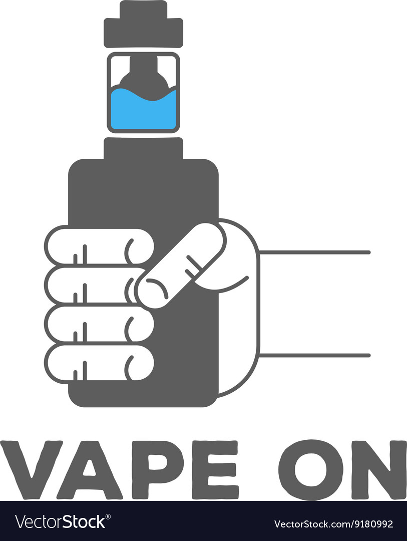 Monochrome logo or icon of an electronic cigarette vector image