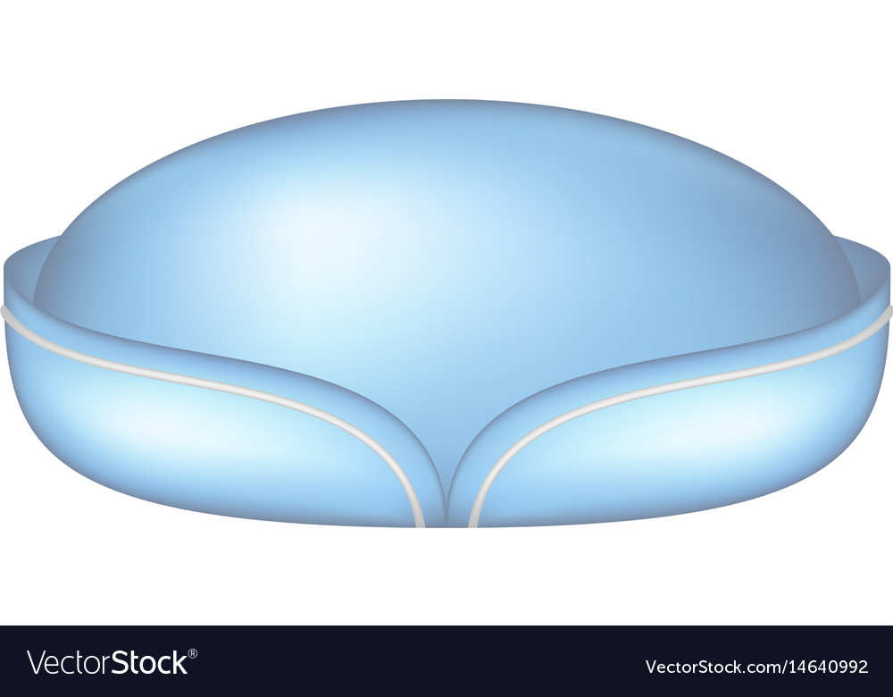Stewardess cap in light blue design vector image