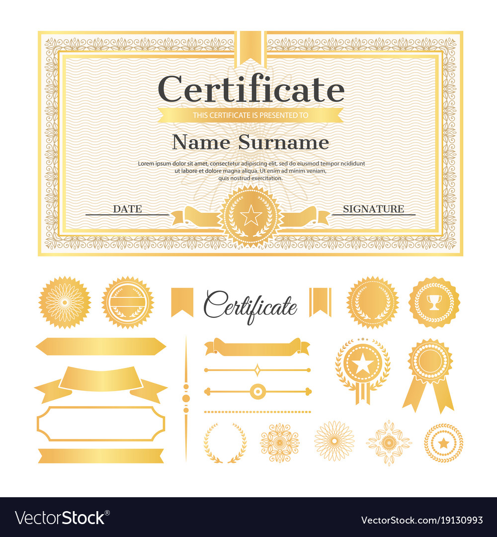 Certificate sample with stamps royalty free vector image certificate sample with stamps vector image yadclub Choice Image