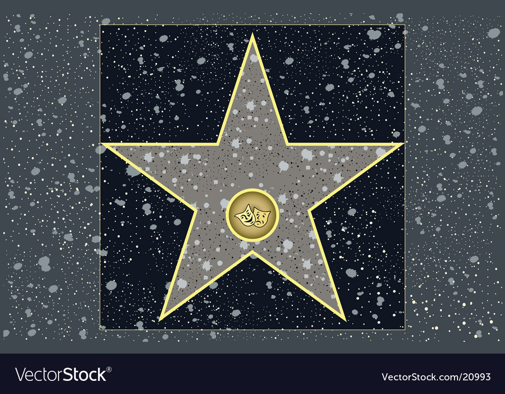 Live theater star vector image