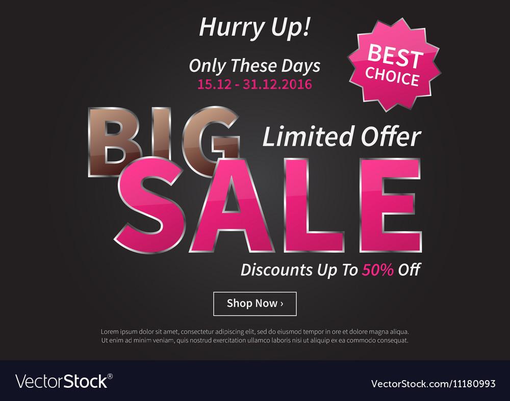Poster Big Sale Limited Offer vector image