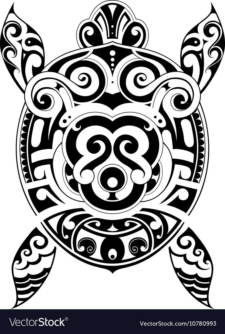 Turtle tattoo shape vector image