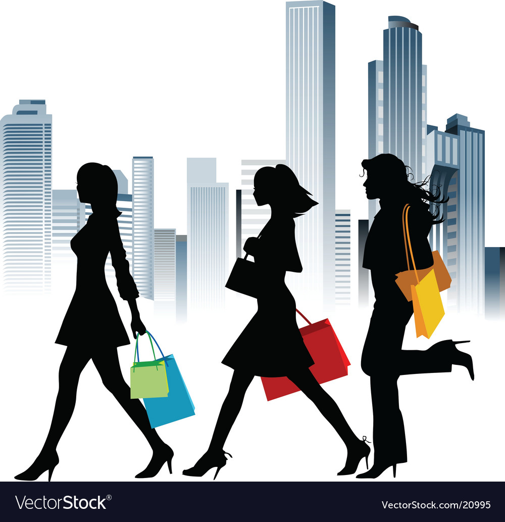 Urban shopping vector image