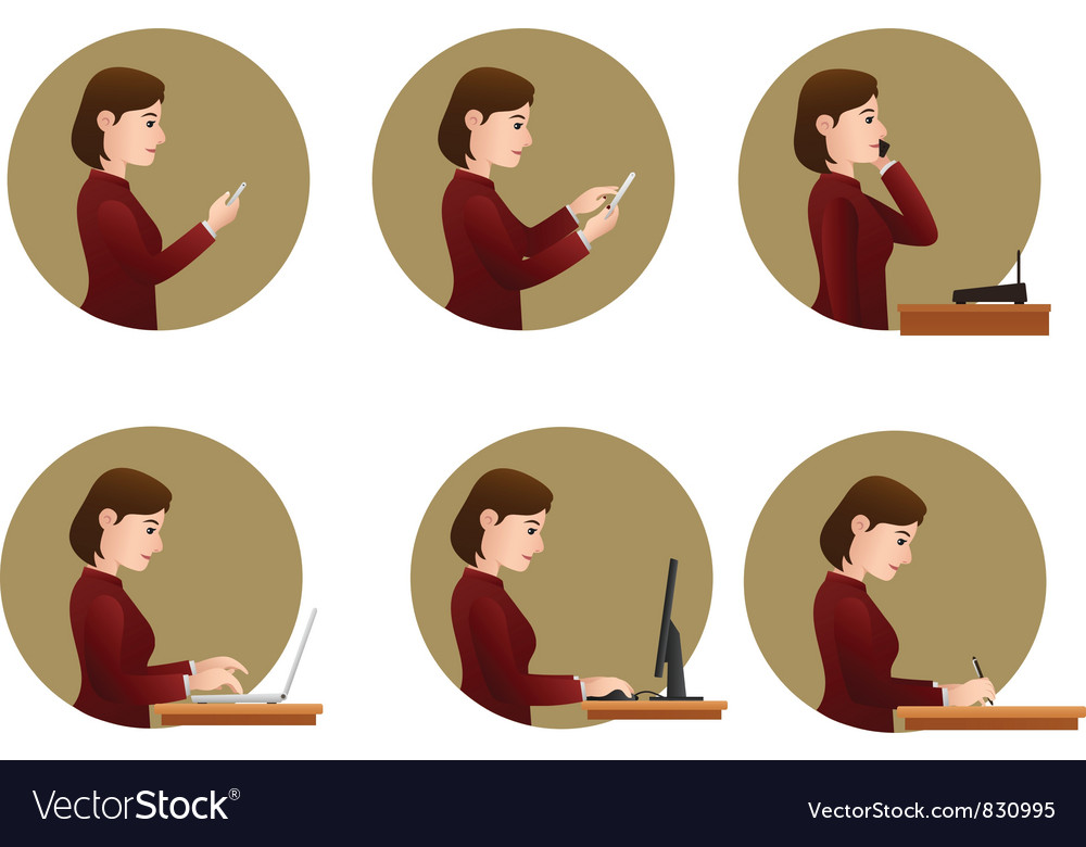 Office activities vector image