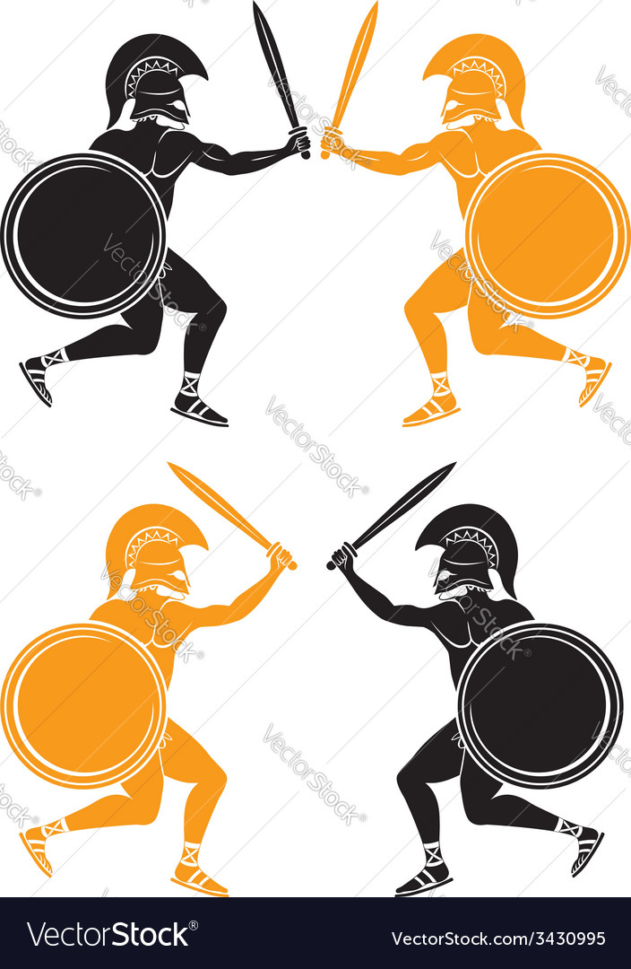 Gladiators vector image