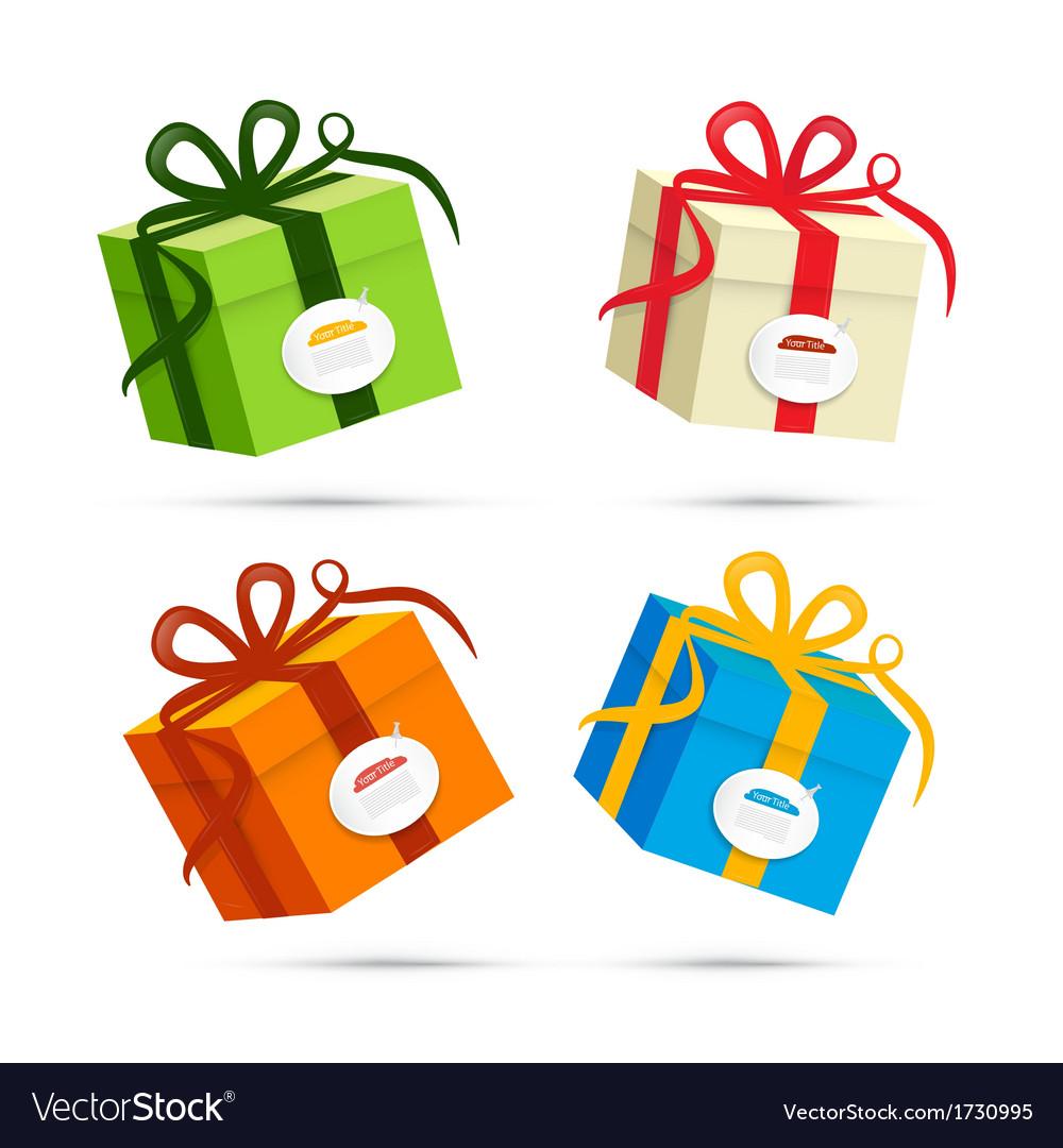 Present Box Gift Box Set vector image