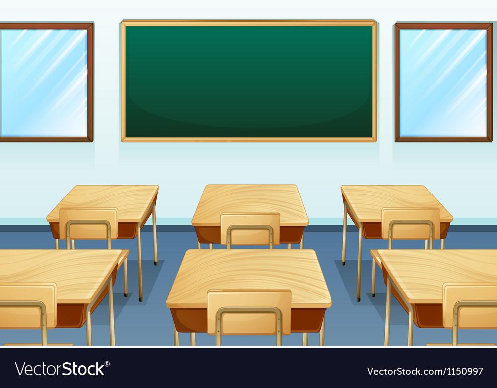An empty room vector image