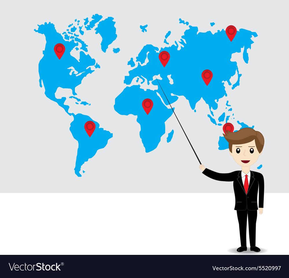 Businessman working vector image