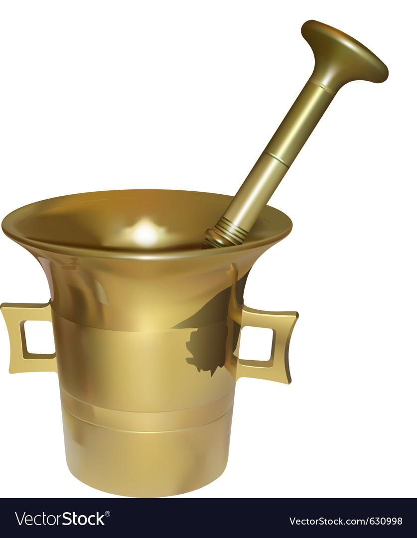 Mortar vector image