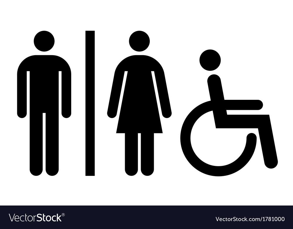 Toilet wc restroom sign vector image