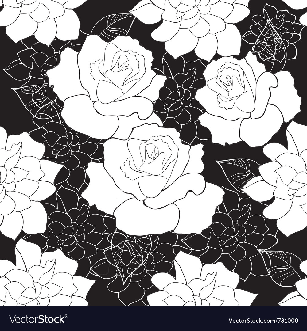 Seamless rose vector image