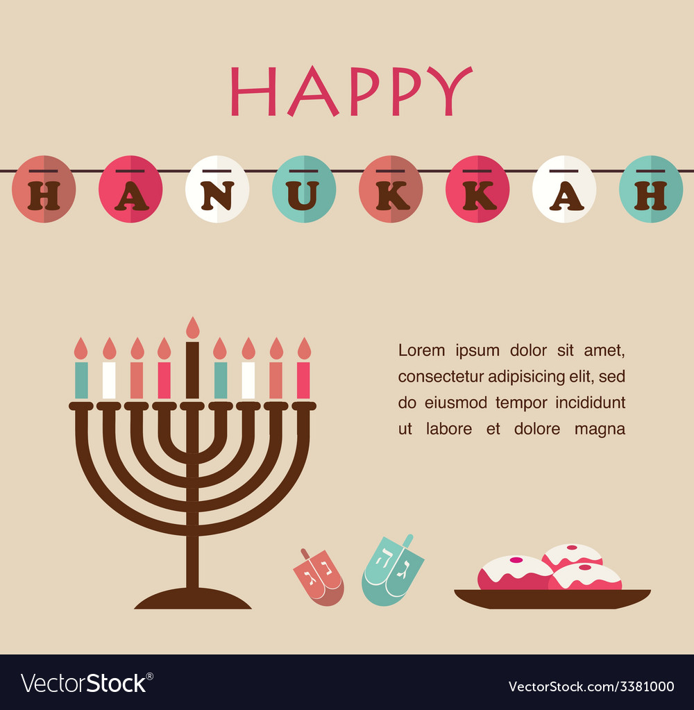 Famous symbols for the jewish holiday hanukkah vector image buycottarizona Images