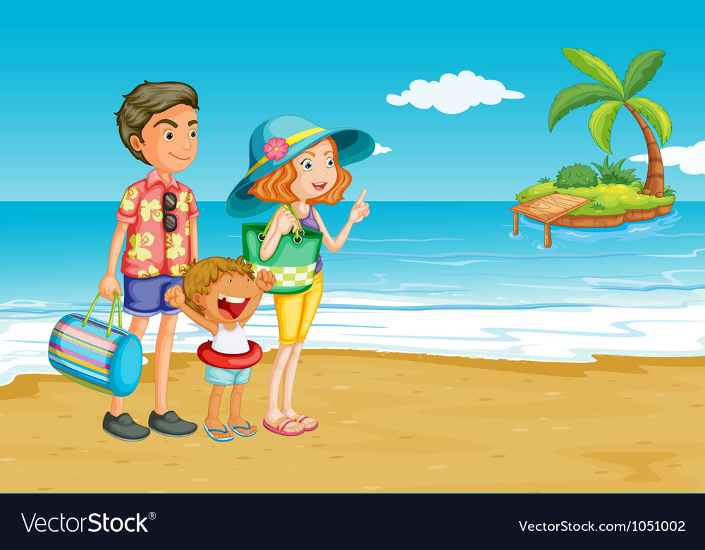 Having a picnic vector image