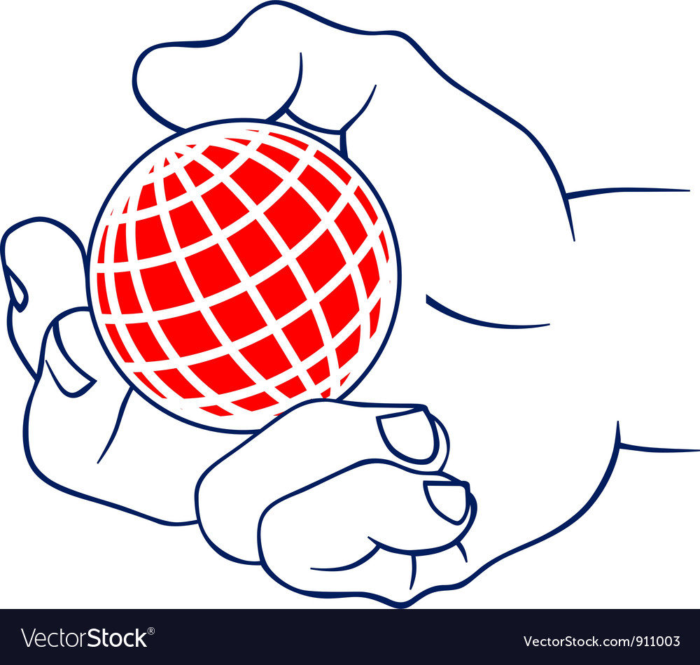 Palm hold the earth vector image