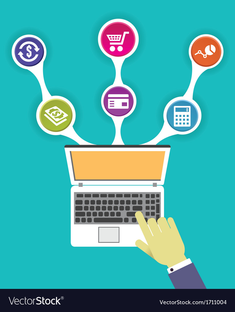 Concept of internet marketing - vector image