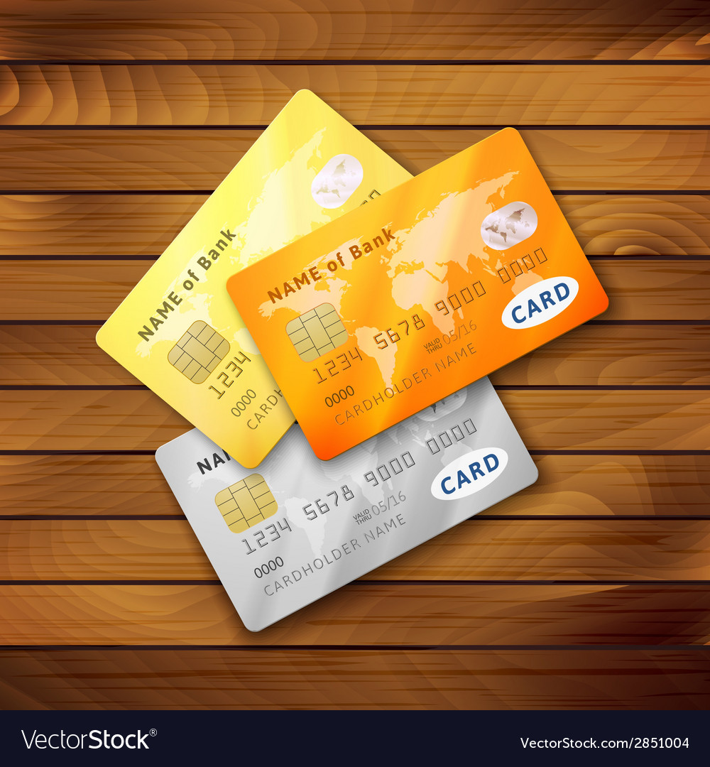 Set of detailed glossy credit cards royalty free vector set of detailed glossy credit cards vector image reheart Choice Image