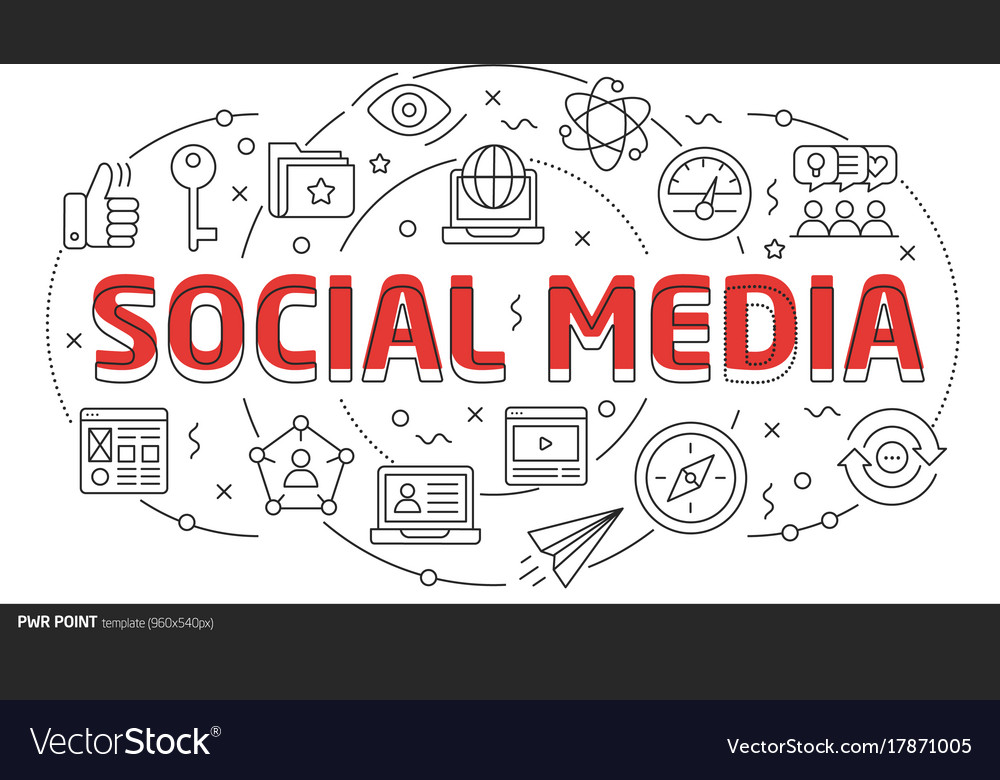 Lines template social media vector image
