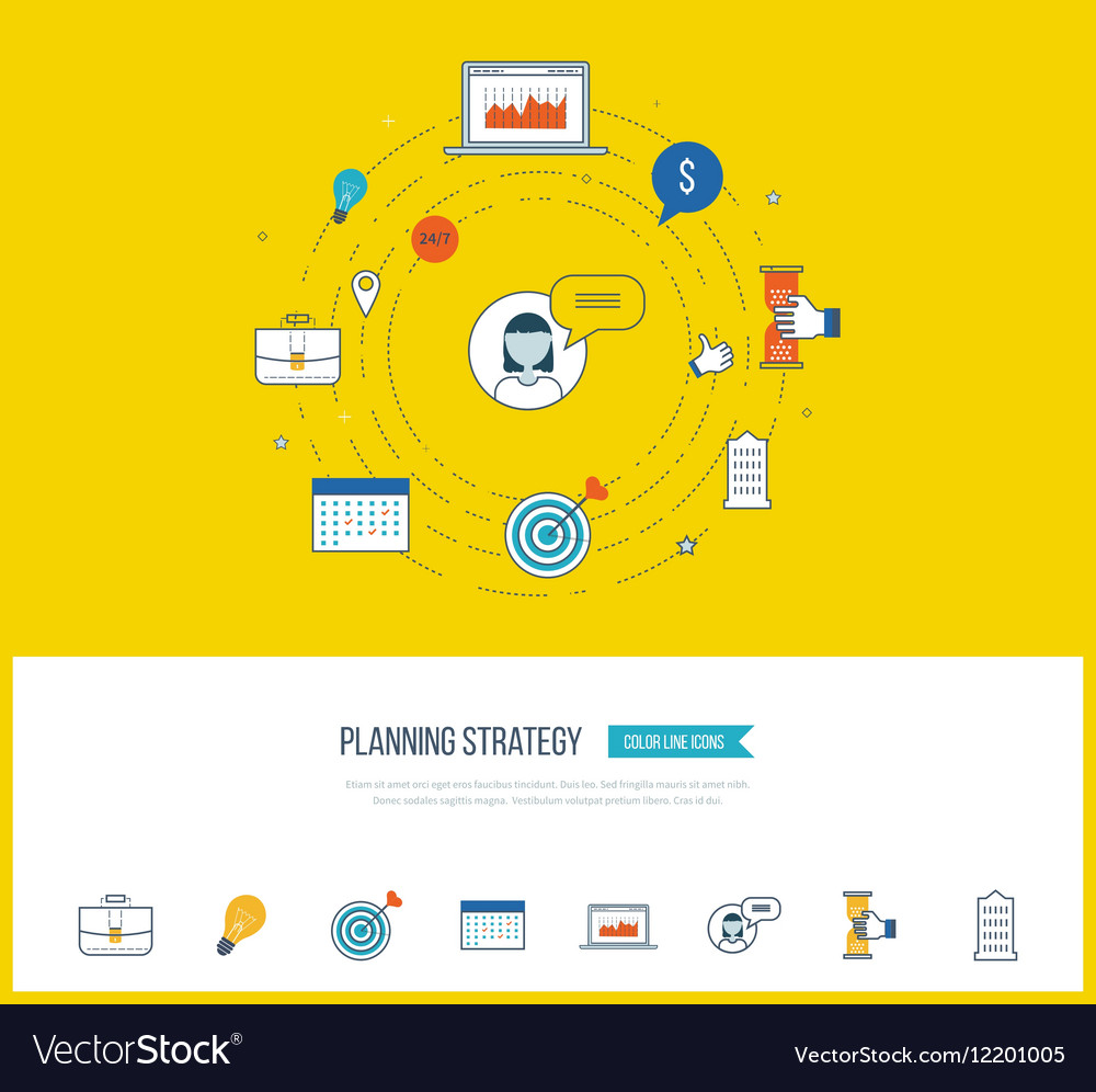 Strategy planning concept Investment management vector image