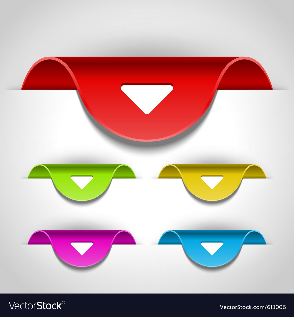 Arrow stickers set vector image