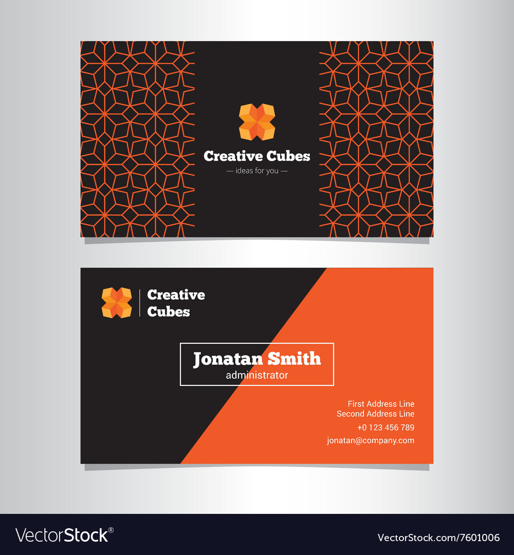 Bright geometric business card template royalty free vector bright geometric business card template vector image reheart Gallery