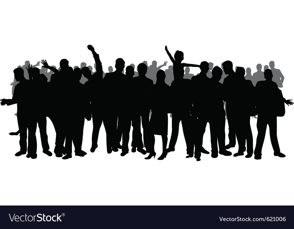 Festival crowd vector image