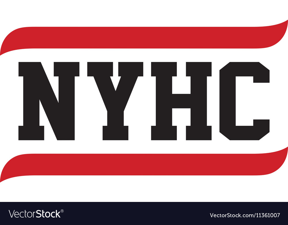 Black red text new york hardcore vector image