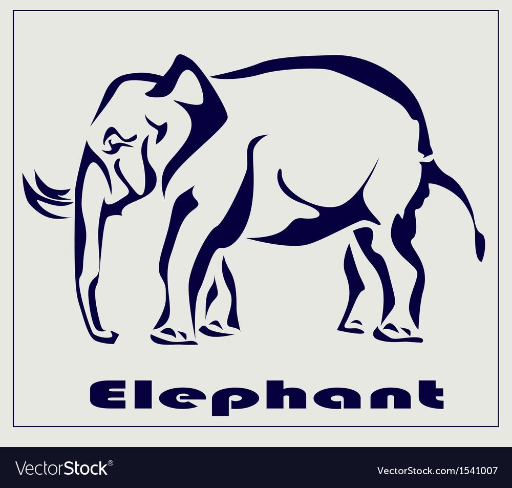 Elephant icon tattoo vector image