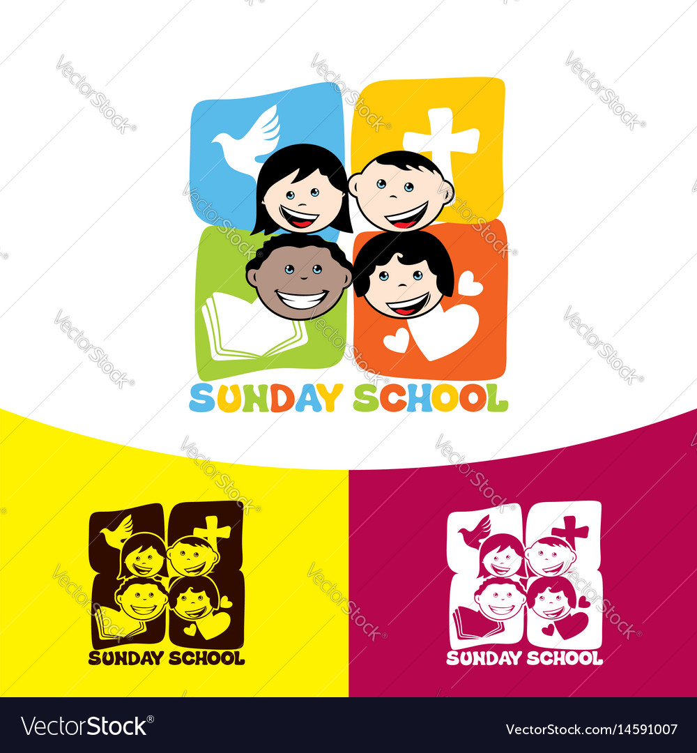 Logo sunday school and christian symbols vector image buycottarizona Image collections