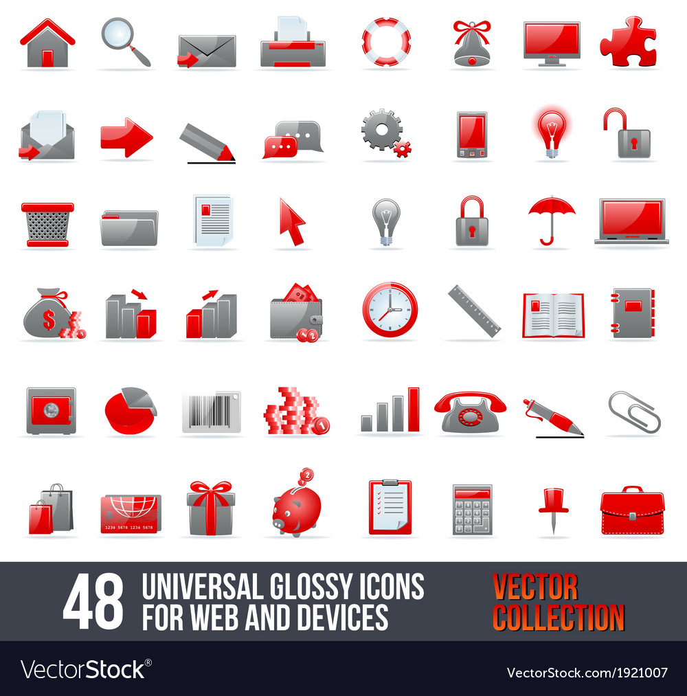 Universal Icons For Web and Mobile vector image