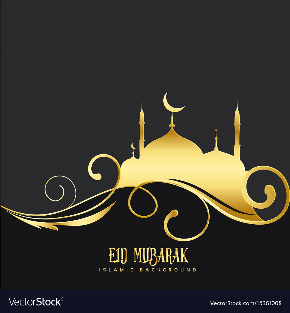 Beautiful mosque design with floral decoration vector image