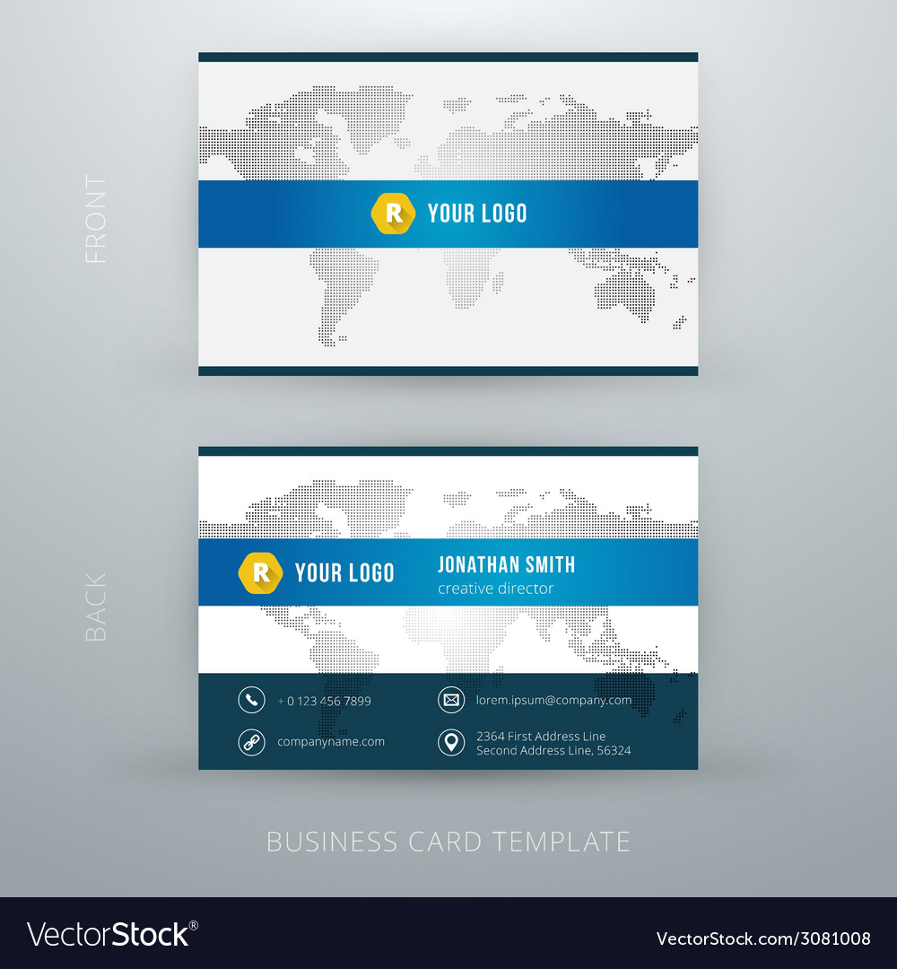 Modern simple business card template royalty free vector modern simple business card template vector image wajeb Image collections