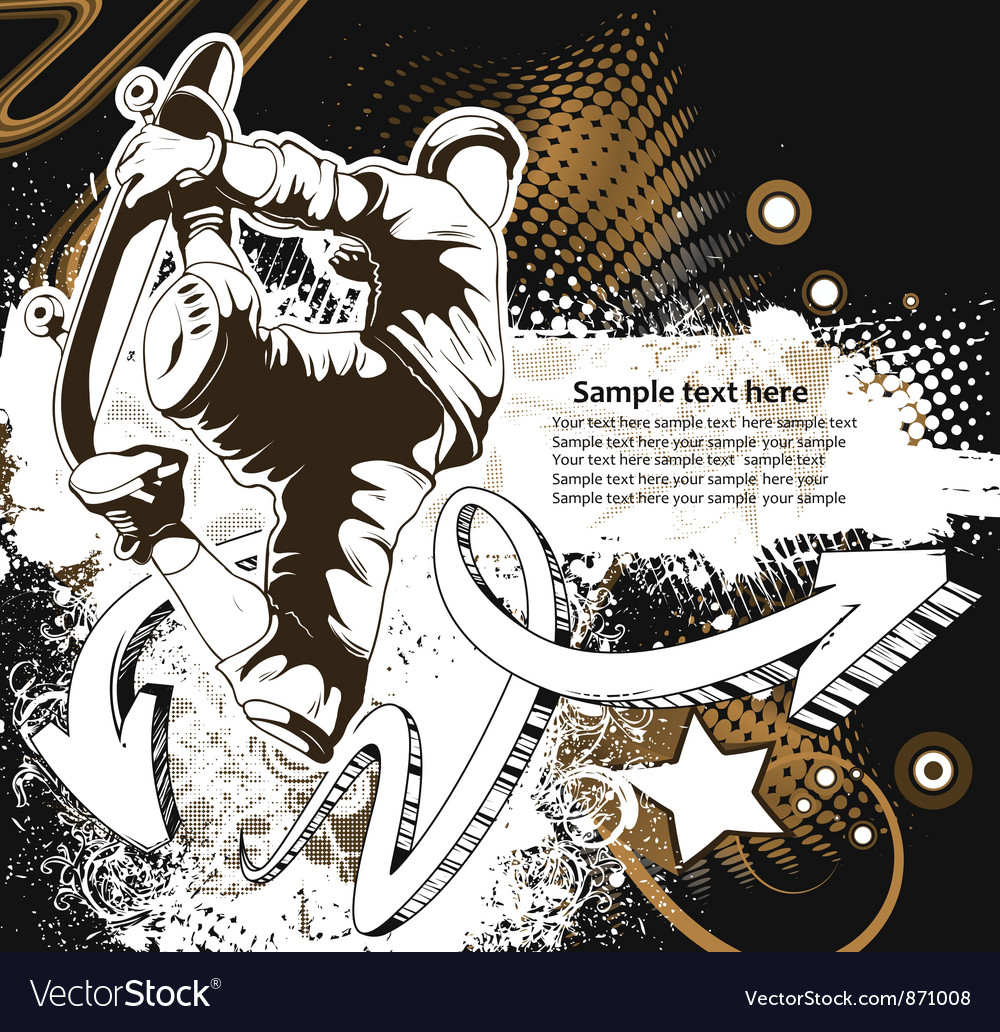 Skater background vector image