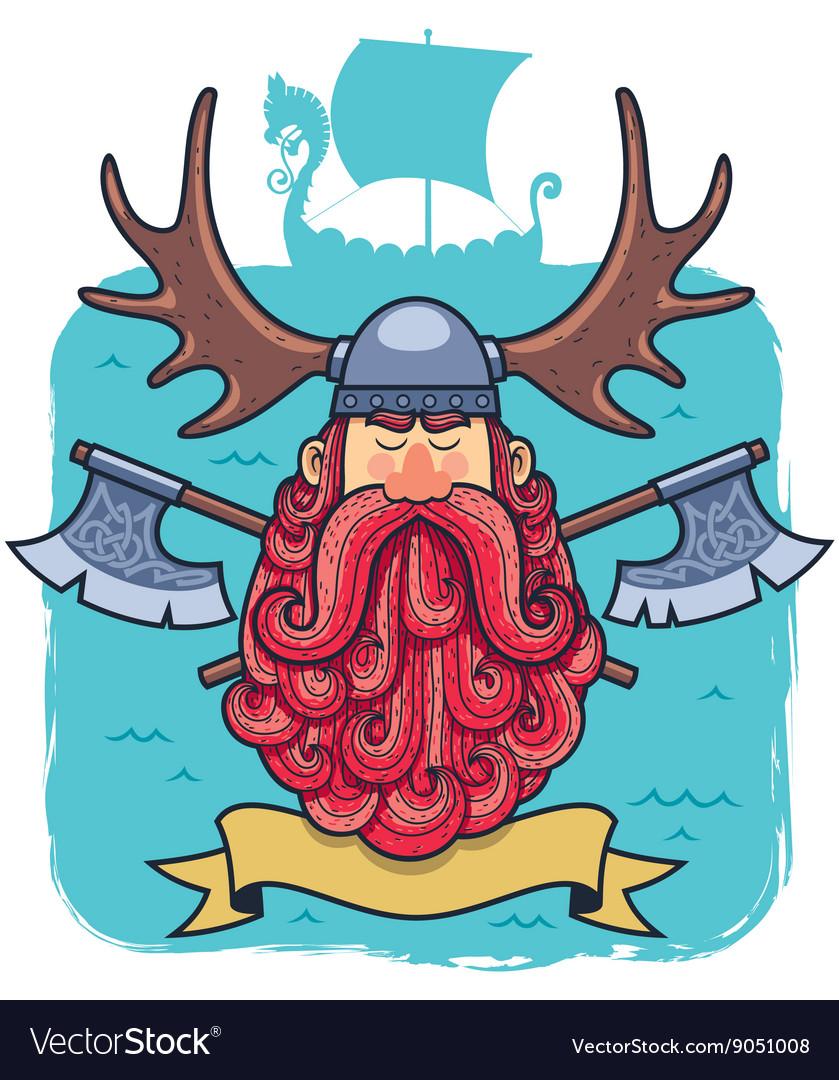 Viking Portrait vector image