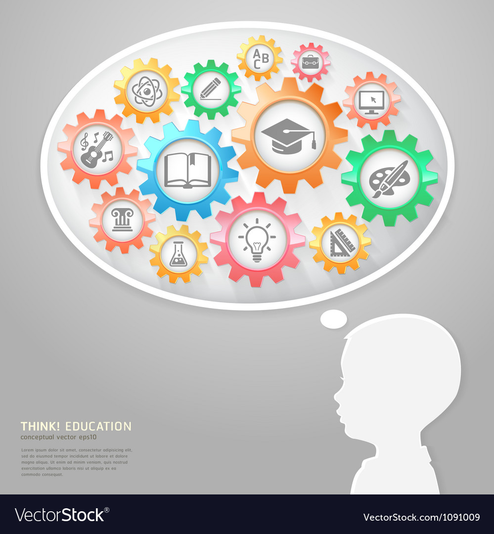 Education thinking conceptual vector image
